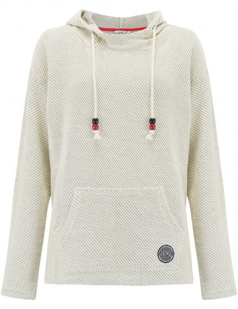 Animal Ralis Reload Too Pullover Hoody in Coconut Cream