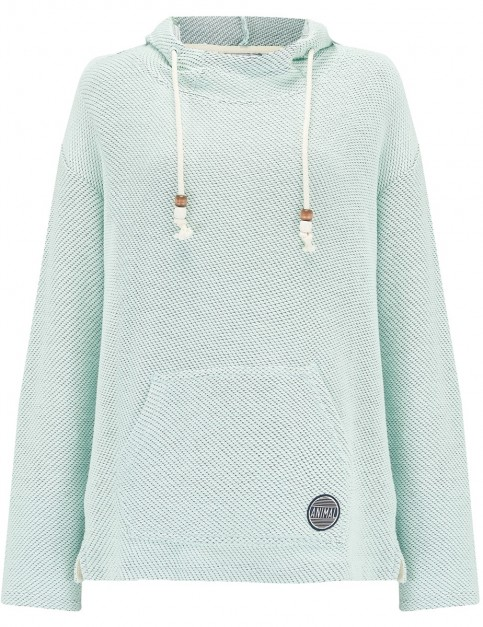 Animal Ralis Reload Too Pullover Hoody in Misty Mint Green