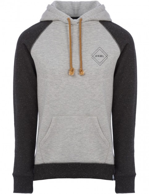 Animal Rebel Pullover Hoody in Black Marl