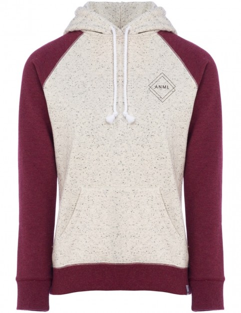Animal Rebel Pullover Hoody in Bordeaux Red Marl