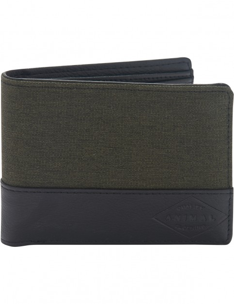 Animal Reckless Faux Leather Wallet in Dusty Olive Green