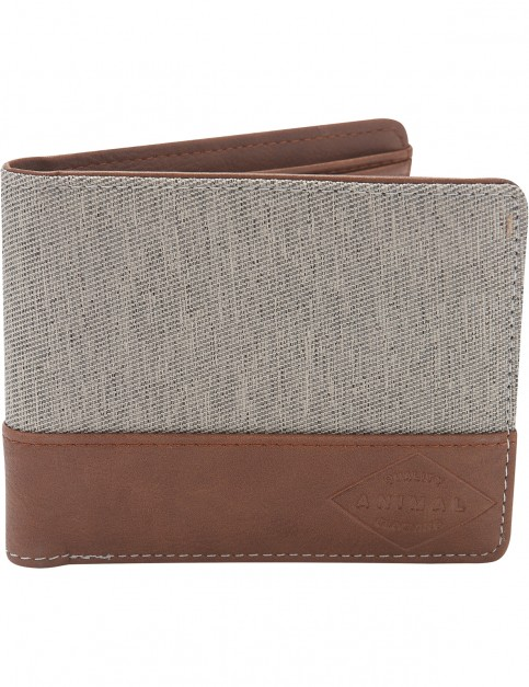 Animal Reckless Faux Leather Wallet in Pale Khaki Cream
