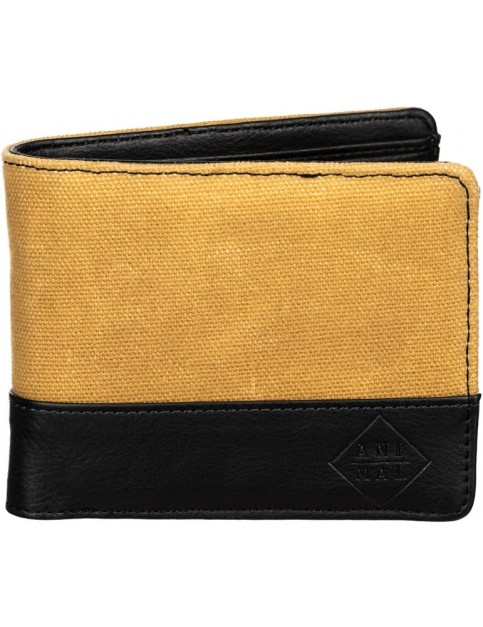 Animal Reckless Faux Leather Wallet in Vintage Yellow