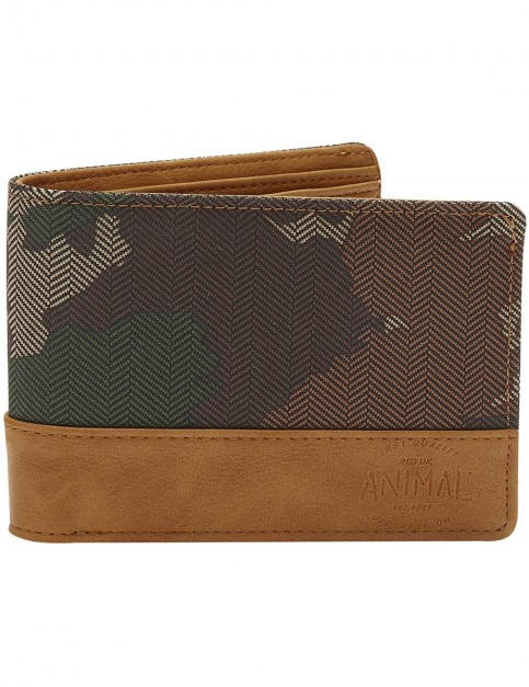 Animal Reckless Polyester Wallet in Camo Green