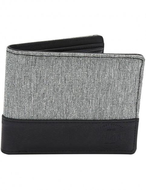 Animal Reckless Polyester Wallet in Grey