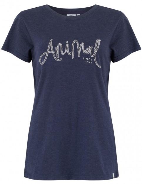 Animal Reel Me In Short Sleeve T-Shirt in Dark Navy Marl