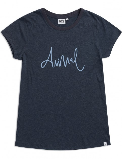 Animal Reel Me In Short Sleeve T-Shirt in India Ink Blue Marl