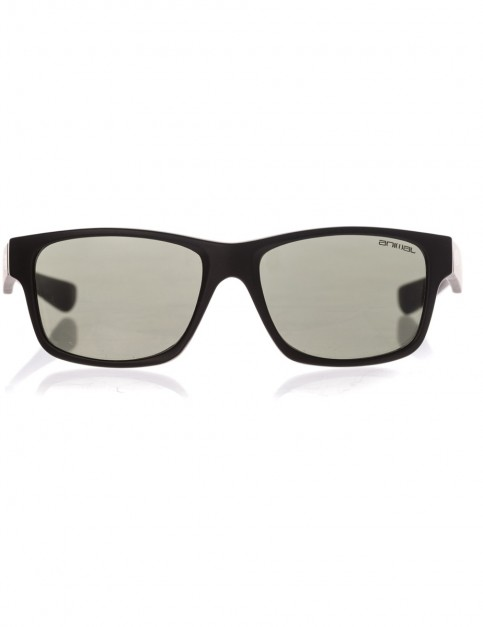 Animal Reflector Sunglasses in Matte Black/Smoke