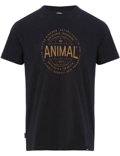Animal Reggie Short Sleeve T-Shirt in Black