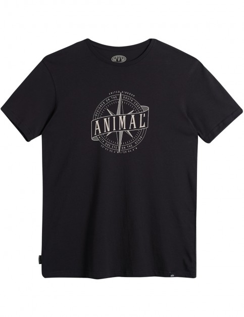 Animal Reggie Short Sleeve T-Shirt in Black