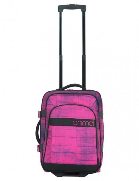Fuchsia Pink Animal Renna Hand Luggage