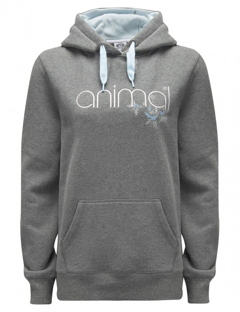 Animal Resting Sands Pullover Hoody in Charcoal Marl
