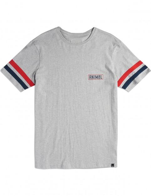 Animal Rixon Short Sleeve T-Shirt in Grey Marl