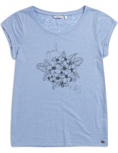 Animal Rolling Rain Short Sleeve T-Shirt in Forever Blue