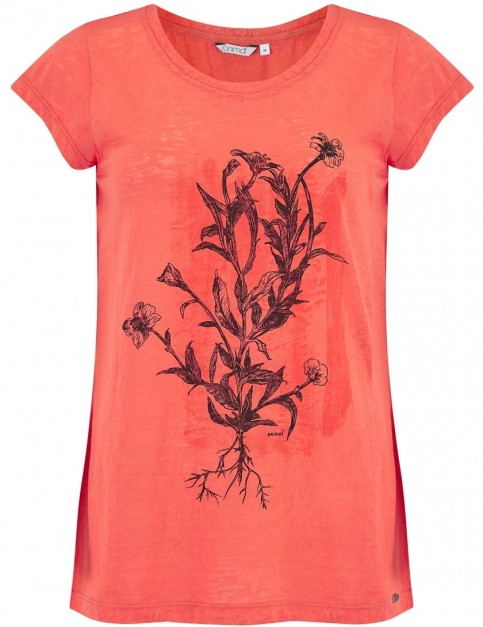 Animal Rolling Rain Short Sleeve T-Shirt in Melon Orange