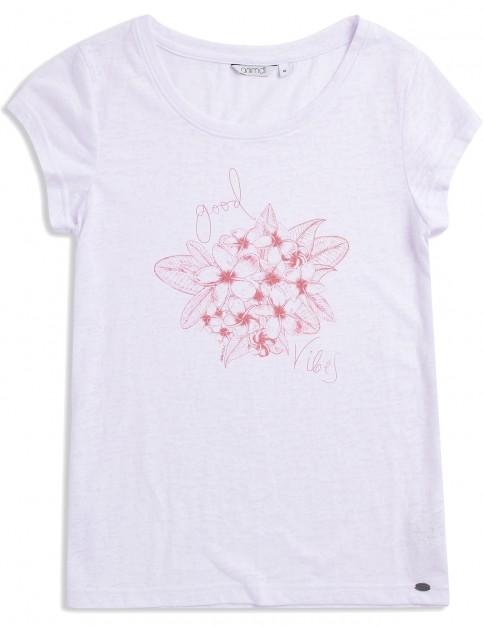 Animal Rolling Rain Short Sleeve T-Shirt in White