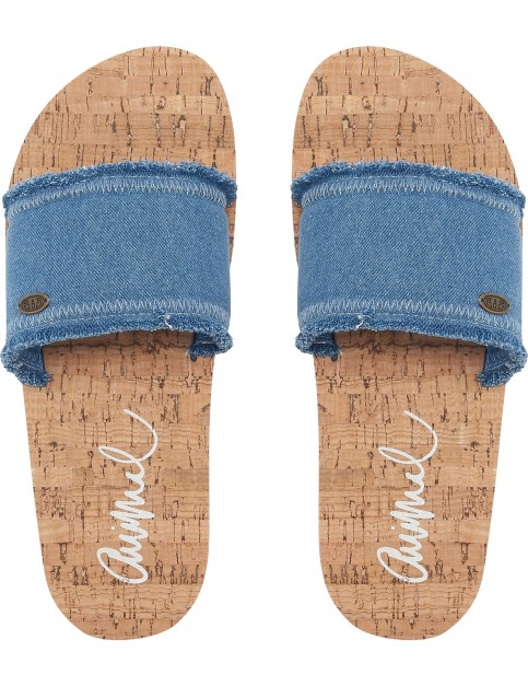 Animal Royal Sliders in Denim Blue