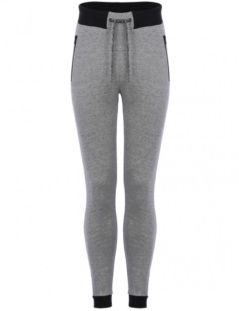 Animal Run Track Trousers in Light Grey Marl