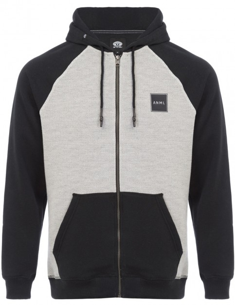 Animal Runand Zipped Hoody in Black
