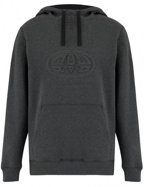 Animal Sabre Pullover Hoody in Dark Charcoal Marl