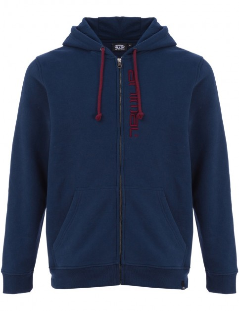 Animal Safou Zipped Hoody in Dark Navy