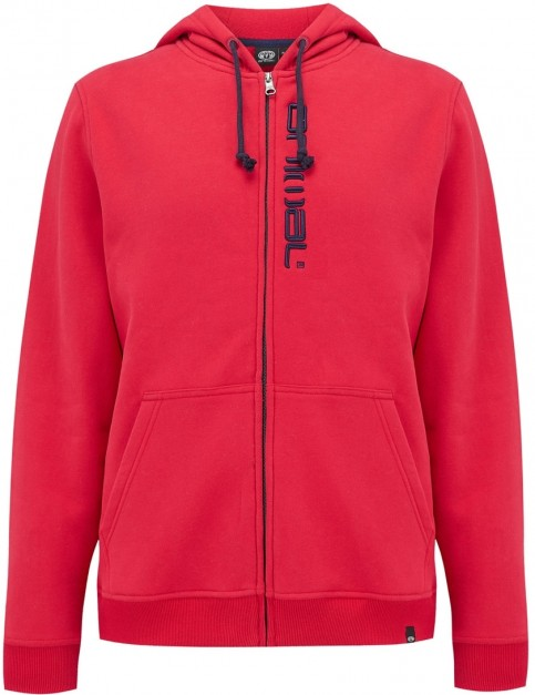 Animal Safou Zipped Hoody in Rich Red