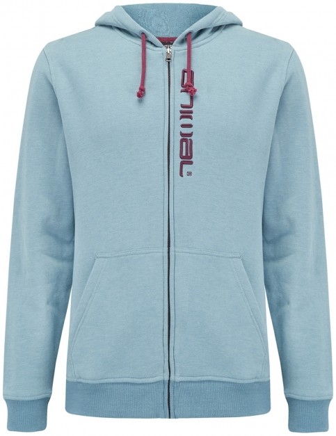 Animal Safou Zipped Hoody in Smoke Blue Marl