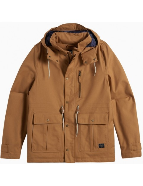Animal Scafell Parka Jacket in Dijon Brown