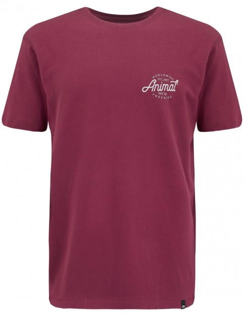Animal Sconna Short Sleeve T-Shirt in Mauve Purple