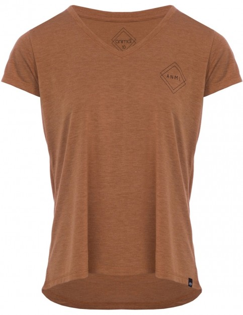 Animal Scouted Short Sleeve T-Shirt in Toffee Apple Brown Marl