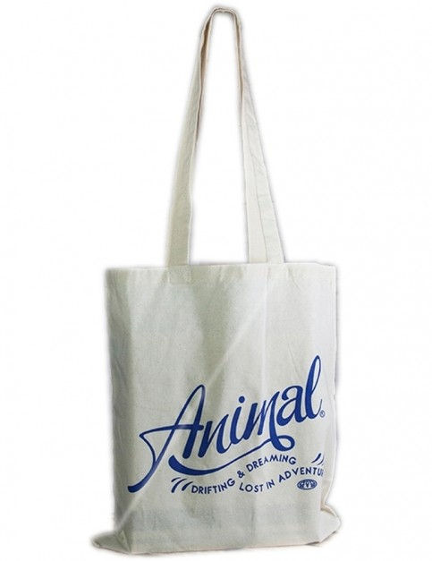 Animal Script Tote Bag in Natural