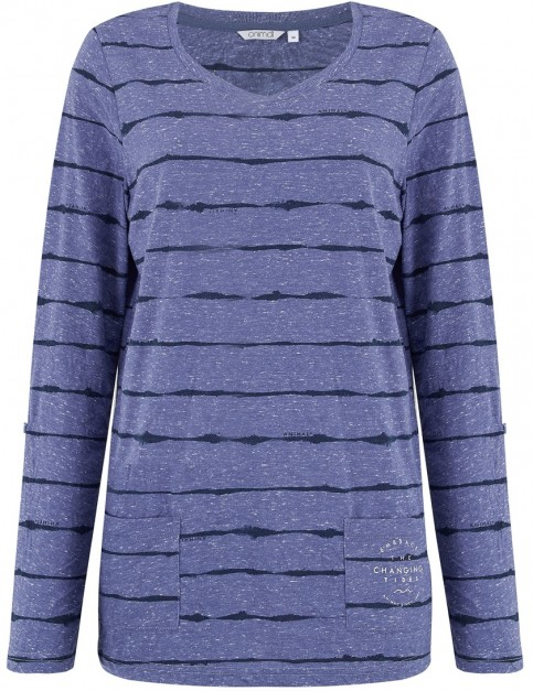 Animal Sea Legs Long Sleeve T-Shirt in Dusty Blue Marl