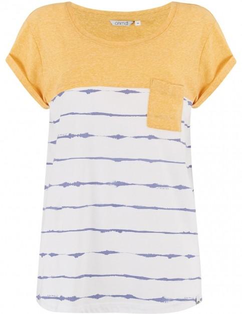 Animal Sea Stripes Short Sleeve T-Shirt in Sunshine Yellow Marl
