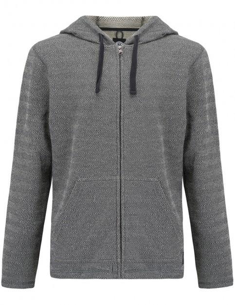 Animal Shaper Zipped Hoody in Asphalt Grey