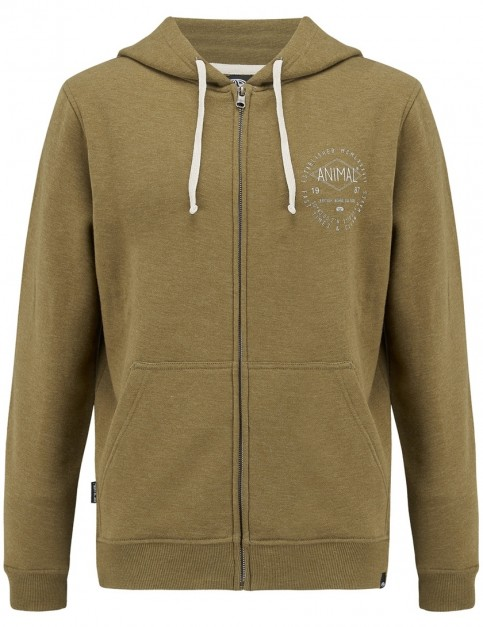 Animal Shiver Pullover Hoody in Lizard Green Marl