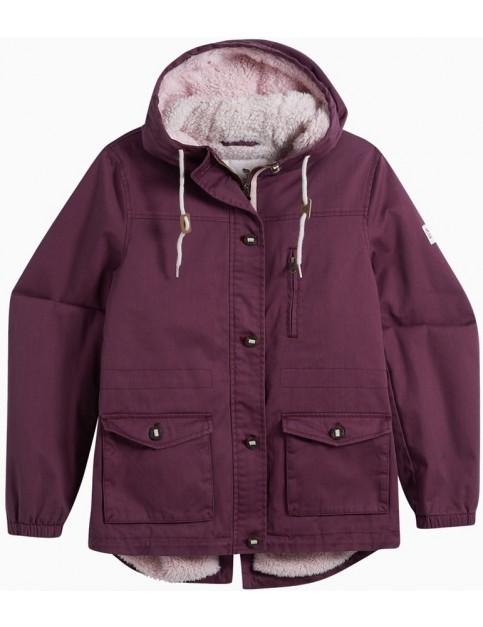 Animal Shortay Parka Jacket in Grape Purple