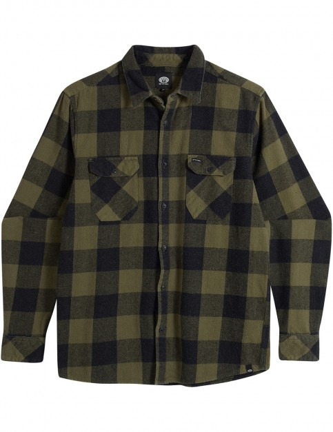 Animal Shovel Long Sleeve Shirt in Dark Olive Green