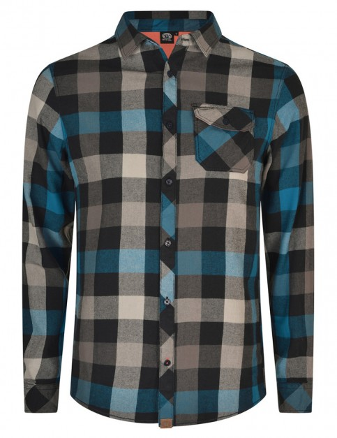 Vivid Blue Animal Shovely Long Sleeve Shirt