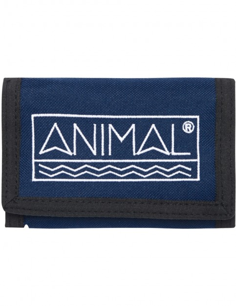 Animal Sidetrack Polyester Wallet in Dark Navy