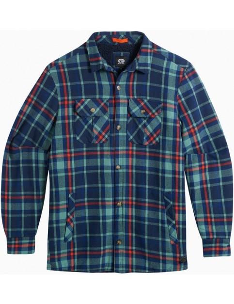 Animal Silverstoe Long Sleeve Shirt in Oil Blue