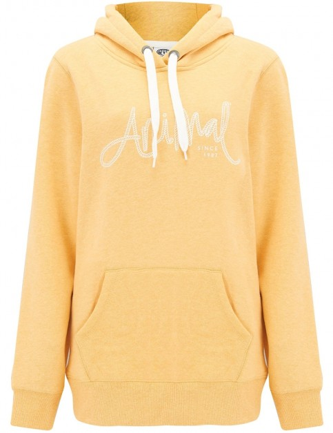 Animal Sketched Pullover Hoody in Sunshine Yellow