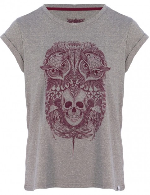 Animal Skowl Short Sleeve T-Shirt in Grey Marl