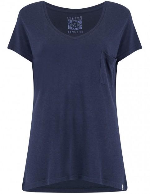 Animal Slouch Short Sleeve T-Shirt in Dark Navy