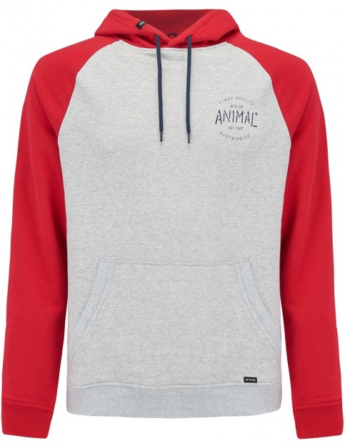 Animal South Pullover Hoody in Rich Red