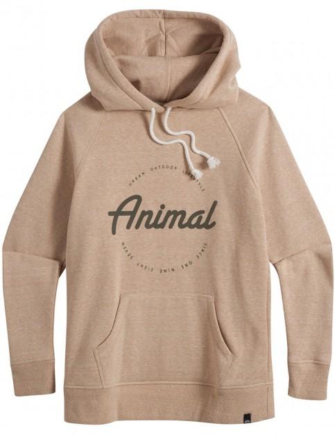 Animal Speckles Pullover Hoody in Vanilla Cream Marl