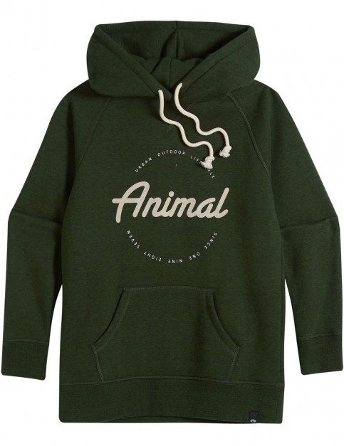 Animal Speckles Pullover Hoody in Woodland Green Marl