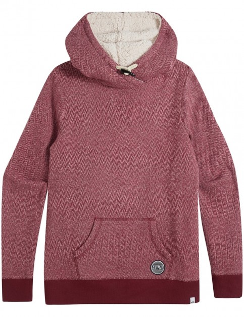 Animal Stitched Pullover Hoody in Pomegranate Red