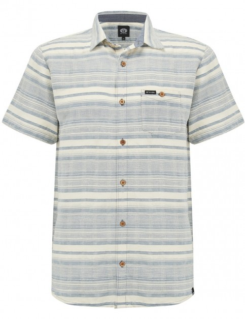 Animal Strand Short Sleeve Shirt in Smoke Blue