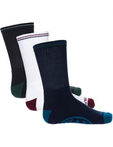 Animal Strobe Crew Socks in Multicolour