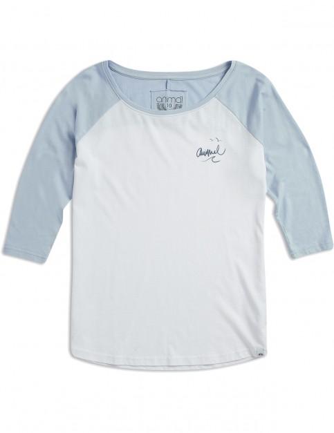 Animal Surfside Long Sleeve T-Shirt in White